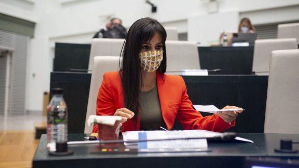 El Pleno revienta contra Vox por condenar el aborto con una fotografía de Villacís y su hija
